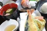 天ぷらとお造り御膳