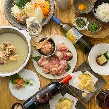 飲放題付鶏白湯水炊きコース5,000円