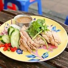 蒸し鶏(生姜ソース)