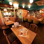 【テーブル席】~4名様×9卓/~2名様×2卓|会社宴会や女子会、ママ会におすすめ