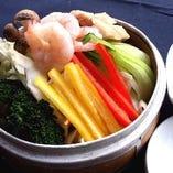 三色野菜の蒸し野菜サラダ