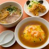 天津飯&ラーメン&揚げものセット