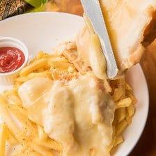 人気のラクレットチーズポテトフライ