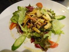 エルカルボのサラダ(ベーコンとキノコのサラダ)