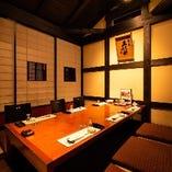 酒蔵を模した居心地抜群の掘りごたつ席完全個室(~6名様×4部屋)