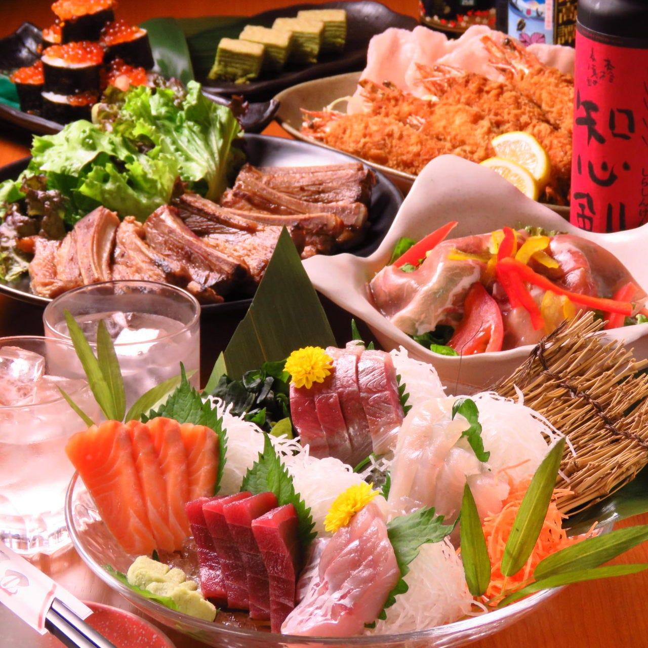 お料理6品+2H飲放 税込2980円 春の彩り宴会は個食でご用意♪
