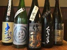 日本各地から届く銘酒の数々!