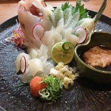 淡路島の活魚を堪能!