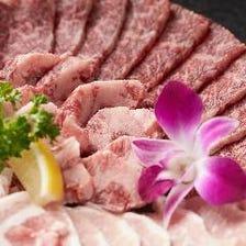 沖縄県産和牛とアグー豚を楽しめる