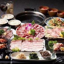【アグー豚も入った沖縄焼肉の食べ飲み放題コース】 120分 4,900円