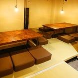 【掘りごたつ席】4~6名様までご利用いただける完全個室
