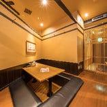 少人数で愉しめるプライベート個室も完備。ご予約はお早めに★