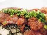 テイクアウトの一番人気、常陸牛ステーキ重(¥1400)