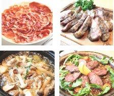 肉好き必食!2.5時間飲み放題全9品「スペイン肉コース」