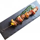 スペイン産イベリコ豚の串焼き