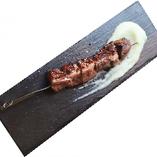 カモ肉の串焼き