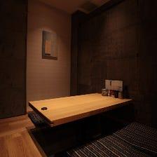 個室2名〜30以上まで個室対応可能