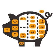様々な部位が食べれる豚料理専門店