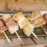 豚匠の串物ベスト5は…かしら豚バラ鳥ももアスパラ豚タン!