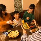 ご家族&お子様連れのお客様でも安心のお食事メニューも多数!