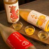 王道の梅酒はもちろん、りんご酒やみかん酒などもございますので、多彩なラインナップの中から3種を選んでお楽しみください。
