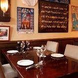 【1階は少人数のお食事に】 カウンター席!テーブルもあり!