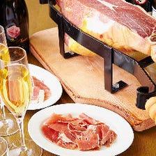 イタリア産プロシュート・イベリコ豚のチョリソーの盛り合わせ