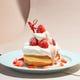 ミルキークリームのショートケーキパンケーキ