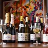 数々のワインから試飲を重ねて厳選!上質なワインを多数取り揃え