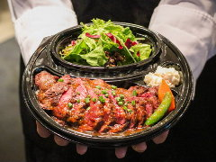 [お肉300g]アンガス牛ハラミステーキ弁当