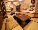 掘りごたつテーブル 1テーブルで最大6名様☆ 会社のご宴会や歓送迎会、お食事に!