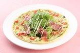 生ハムとルッコラのサラダピザ (M)850円 (L)1700円