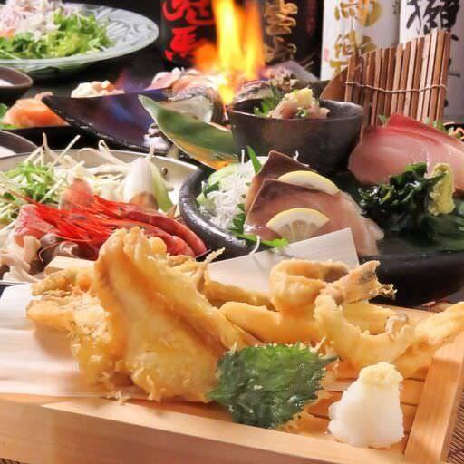 遠州三河産の地魚てんぷらのコースは必見です!