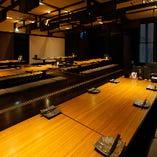 2階:広々とした宴会個室を貸切【50名様~80名様まで】