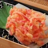 サクサク食感と生姜の辛味が癖になる紅生姜のかき揚げ