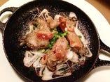 山田産 牡蠣のアヒージョ