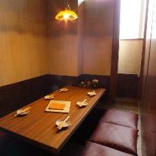 個室、半個室、喫煙席もあります♪