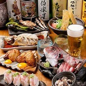 鶏と鮮魚をふんだんに使った宴会の新コース!!