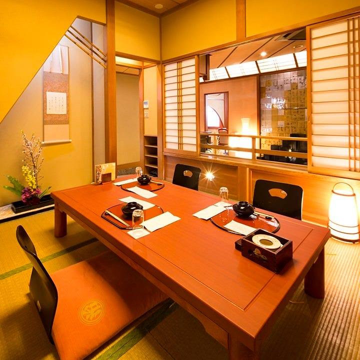 高級宿を思わせる雰囲気 純和風の上質な完全個室空間