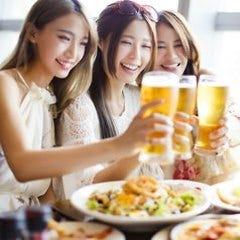【女性限定】大人気♪女子会プラン料理7品3時間飲み放題付4980円⇒2980円 ママ会 宴会 飲み会 ビール