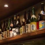 地元の日本酒、焼酎を取り揃えています