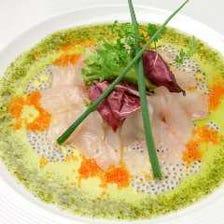 ハーブレモンソース + 鮮魚