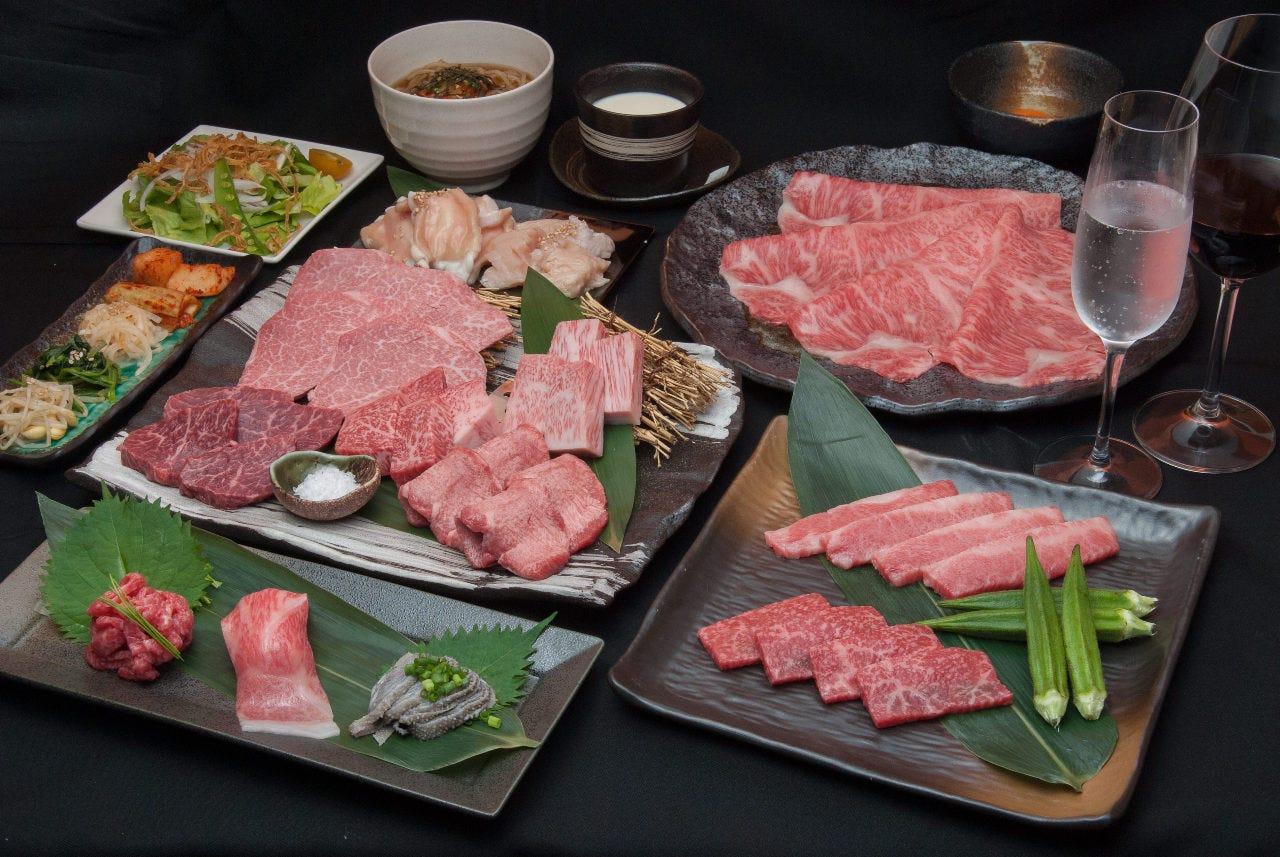 【豪華】極上のお肉とお寿司が愉しめる。リピート率99%にくTATSUプラン『堪能コース9,900円』[全席個室]