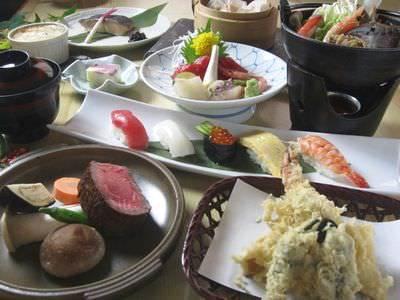 少し贅沢な5000円コース 豪華食材を贅沢に楽しめます