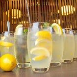 【レモンサワー】 なんと全7種類!特に旨塩レモンサワーが人気