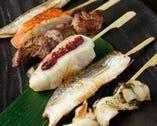 魚串は絶品20種以上!!たこやき串、特大つぼ鯛串、大人気!!