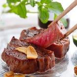 さっぱりといただく、和テイストの『壱岐牛』炭火焼ステーキ。