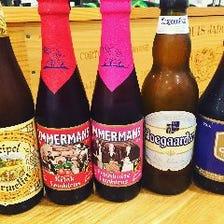 数種類のベルギービール