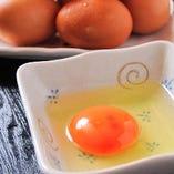 地鶏の卵を贅沢に使いました「地鶏の卵かけご飯」
