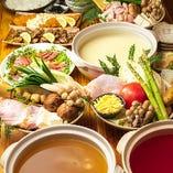 3種の出汁から選べるお鍋のコースは冬のおすすめです♪